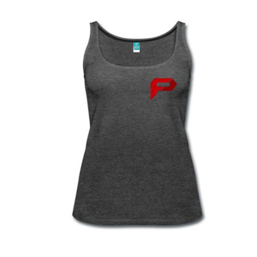 Women's Premium Tank Top Charcoal Grey- Front