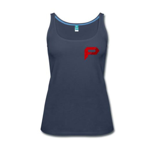 Women's Premium Tank Top- Navy- Front